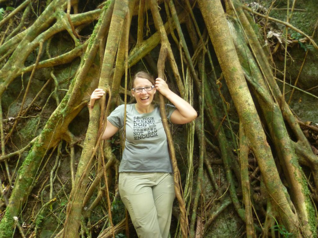 Treasure hunt: me in the roots of a big big big tree