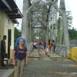 Border Panama/Costa Rica: me infront of the bridge