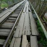 Border Panama/Costa Rica: the bridge has surely seen better days