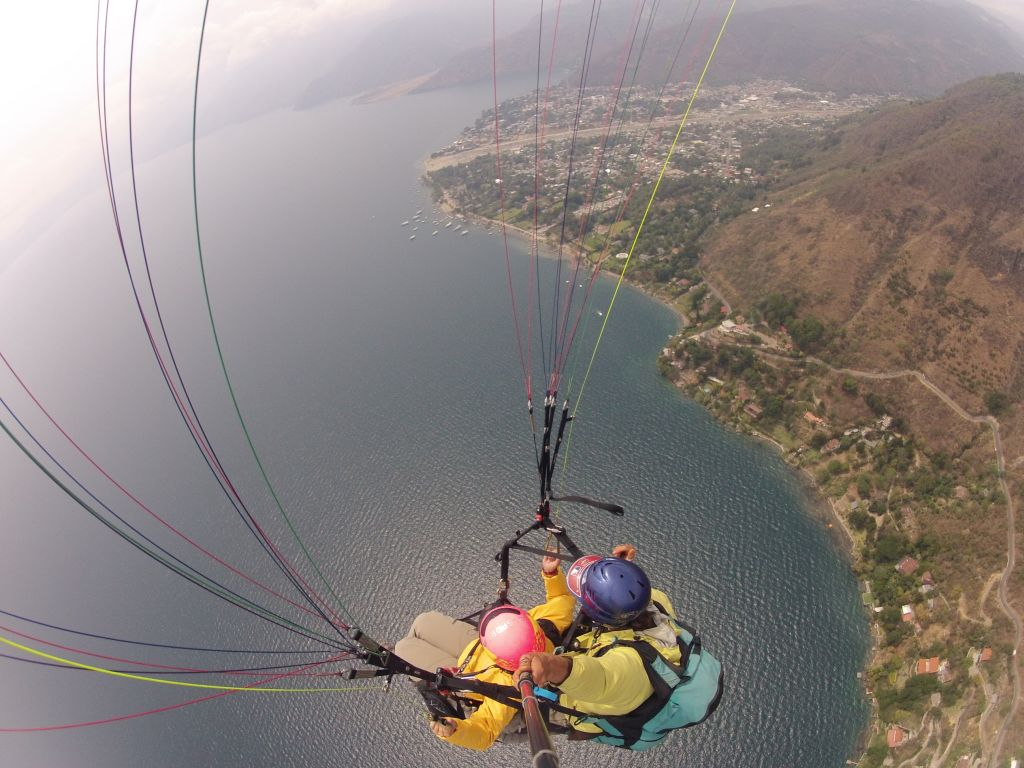 Paragliding 4: view of the camera on top of us