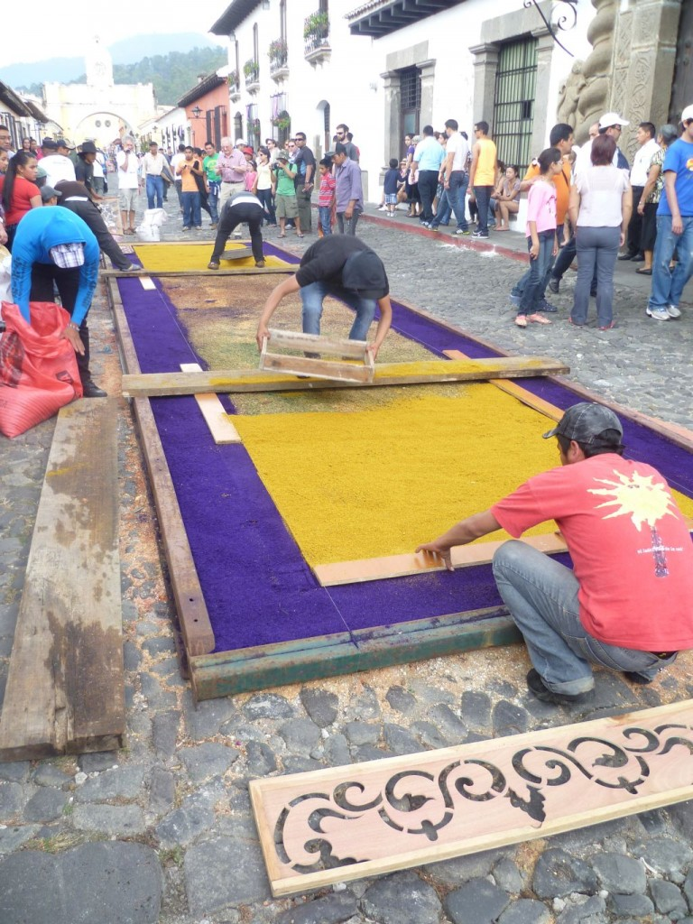 Antigua - Preparation of a carpet 2