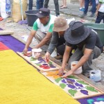 Antigua - Preparation of a carpet 3