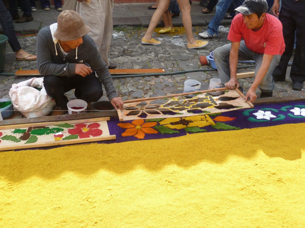 Antigua - Preparation of a carpet 4