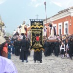 Antigua - Easter Procession, two smaller statues