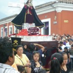 Antigua - Easter Procession, Maria statue