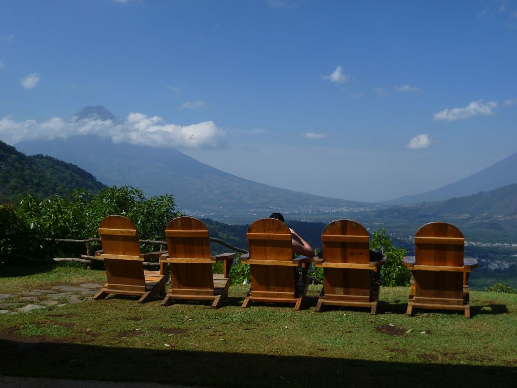 Earth Lodge 9: view from the sun chairs