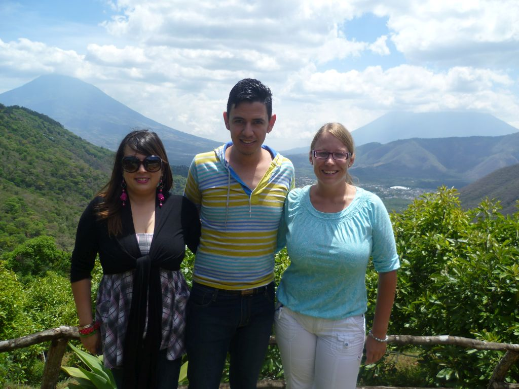 Earth Lodge 15: Carla, Luis and I (left to right)