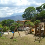 Earth Lodge 7: playground with hammock terrace