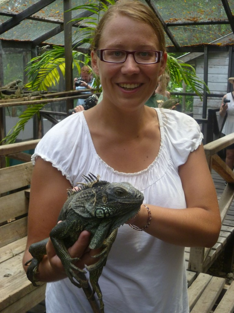 Iguana Breeding Station 3: me and a medium-sized iguana