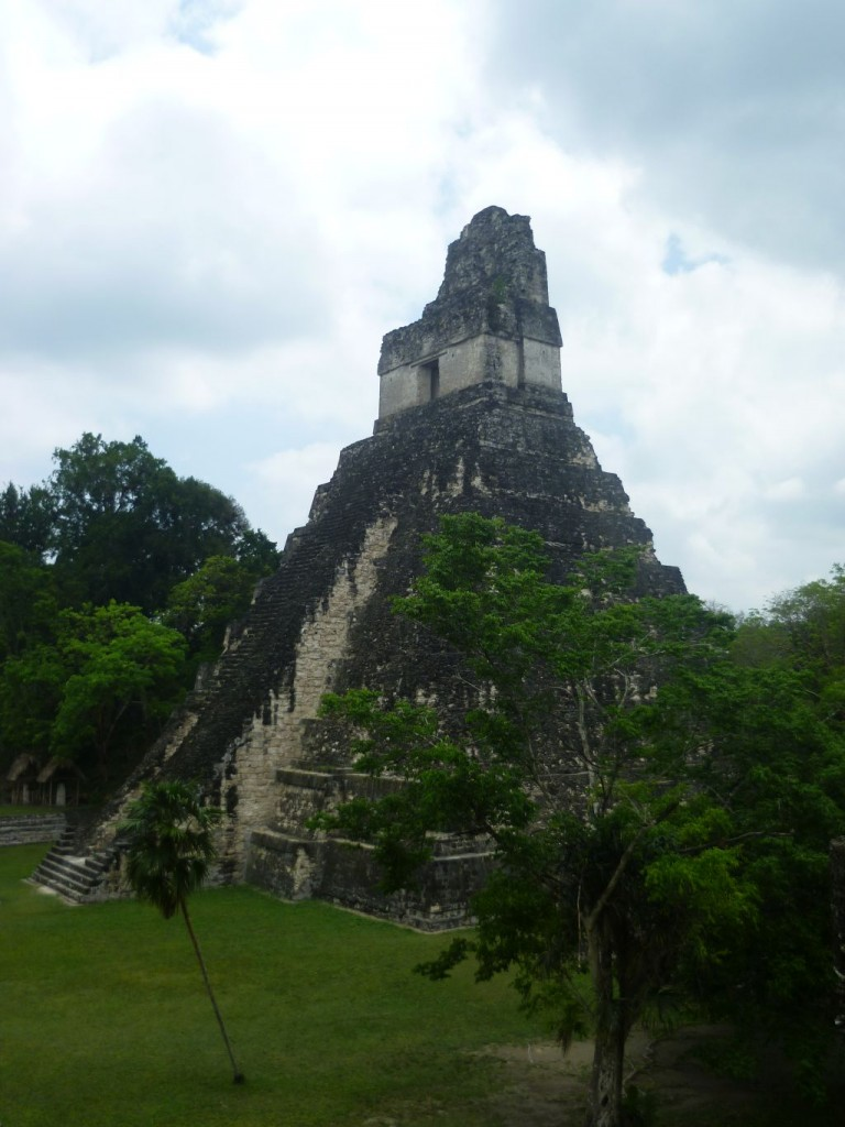 Tikal 5: side view of temple One