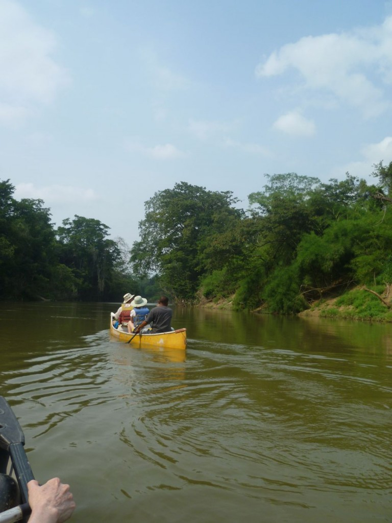 Canoe-Tour 10: canoeing on the Belize-River