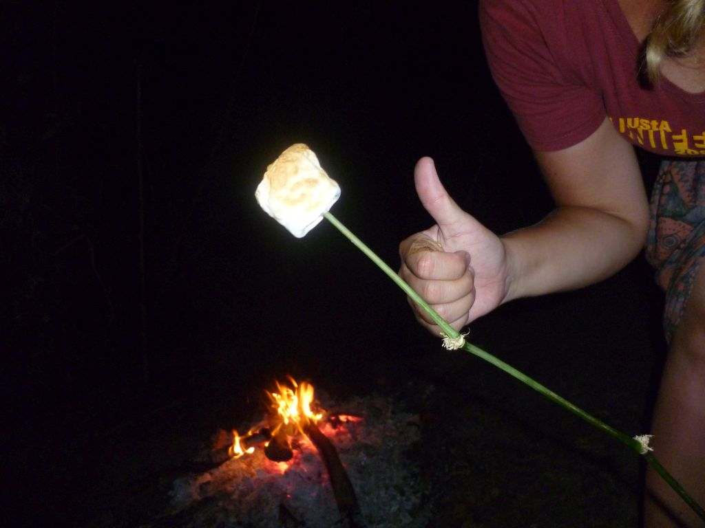 Canoe-Tour 7: marshmallow roasted by me