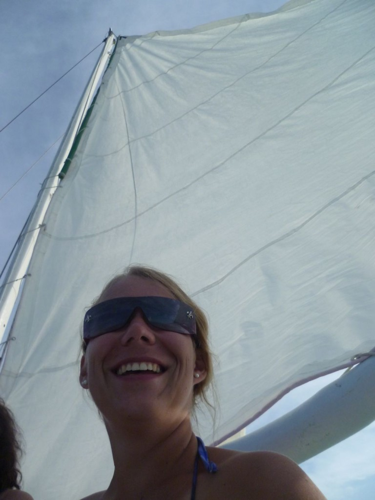 Sailing trip 4: me on the sailing boat (picture taken by Cathryn)
