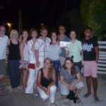 Caye Caulker 12: travel group after the farewell-dinner