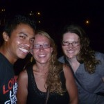 Caye Caulker 10: Ernesto (tour guide), me and Corina (left to right)