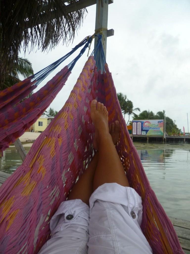 Caye Caulker 6: lying in a hammock