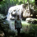 Río Dulce 5: me infront of the hot waterfall