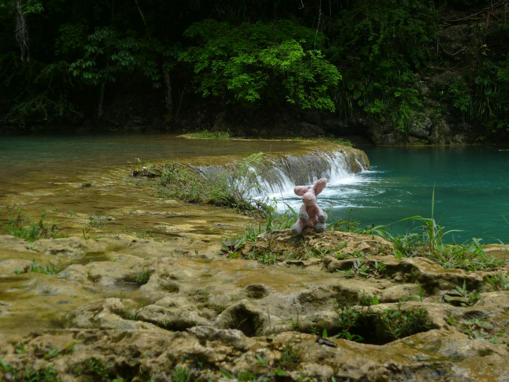 Semuc Champey 4: Marie at one of the pools