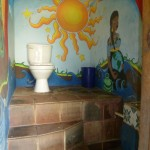 El Retiro 2: toilet with nice paintings