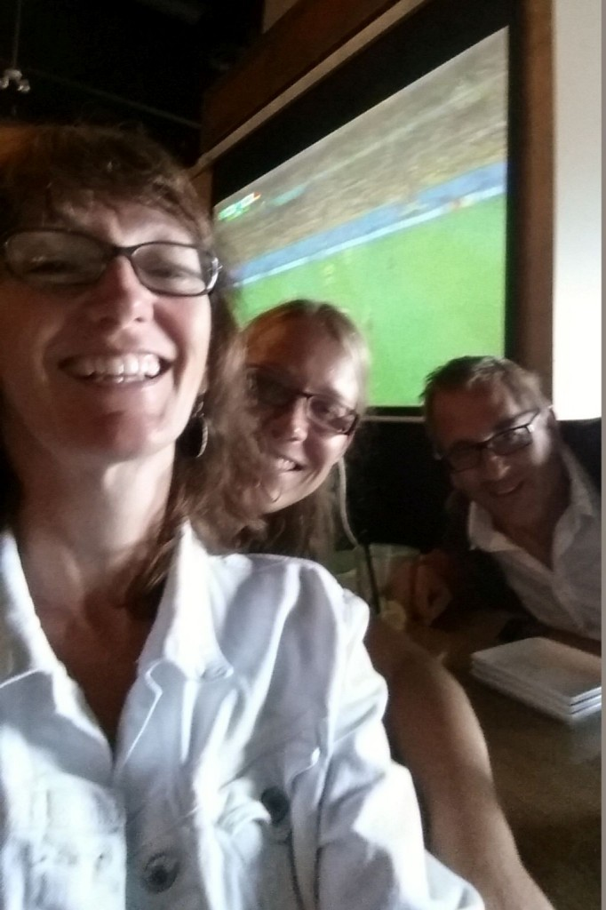 Watching the soccer game: Germany vs Brasil