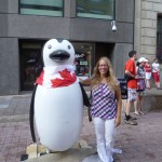 Canada Day 4: a Canadian penguin and me