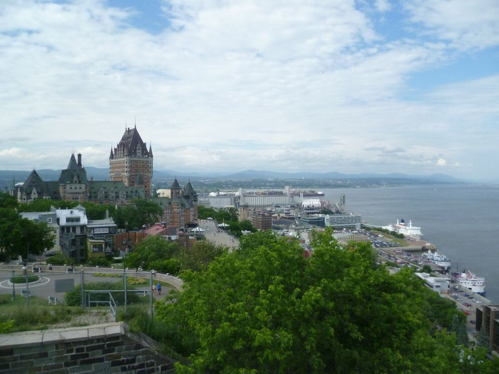 Quebec City 8: view from the Citadelle onto the city and the river