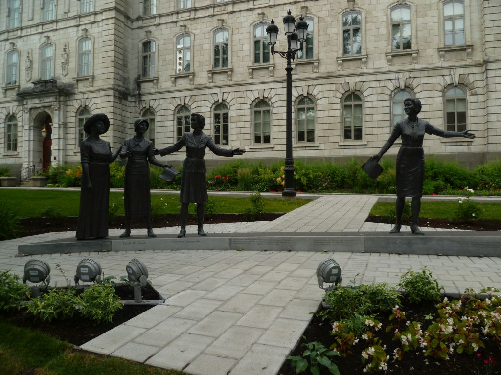 Quebec City 14: monument in honor of the development of womens rights in Canadian politics