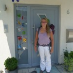 Welcome back - front door of my parents house