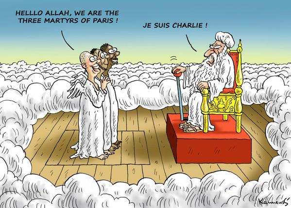 Je suis Charlie - Unfortunately, I have no idea who created this brilliant cartoon.