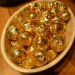 Vanilla truffles (wrapped in golden foil)