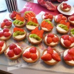 Start of a new job 7: strawberry-vanilla tartlets