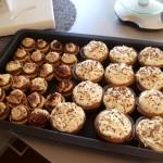 Start of a new job 8: mini-chocolate cheesecakes and chocolate-mascarpone cupcakes