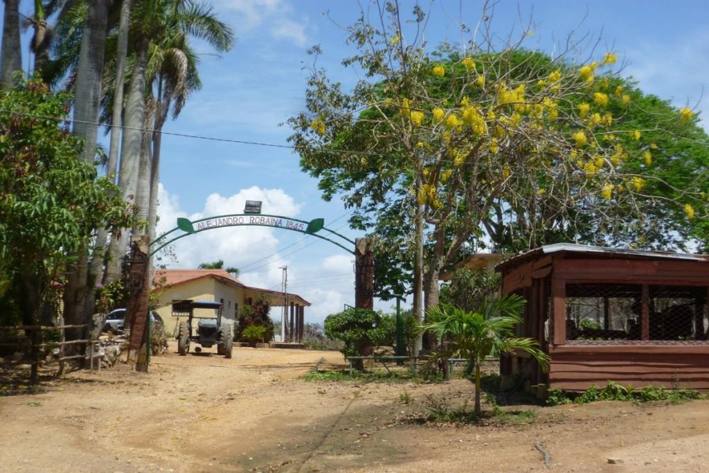 Eingang der Plantage