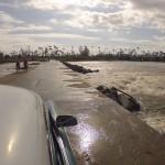 Flussüberquerung auf dem Hinweg