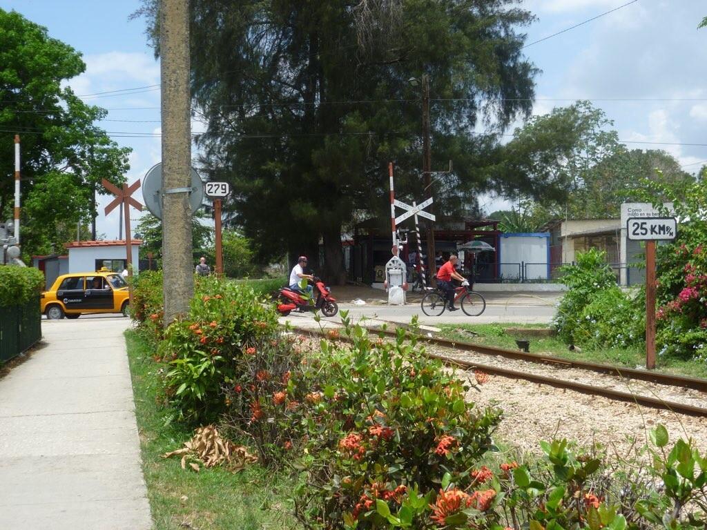 Stelle in Santa Clara, an dem Ché und seine Kameraden den gepanzerter Zug zum Entgleisen brachte