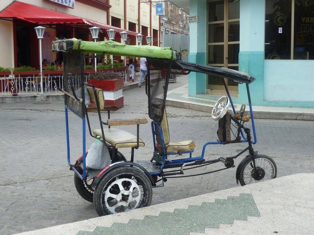 Eins der vielen Bici-Taxis
